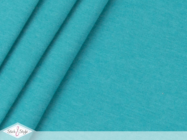 jersey baumwolle uni aquamarin meliert stoffe und meterware g nstig online. Black Bedroom Furniture Sets. Home Design Ideas