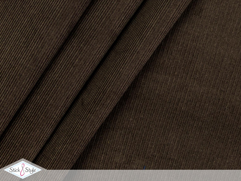 feincord uni dunkelbraun babycord stoffe und meterware. Black Bedroom Furniture Sets. Home Design Ideas
