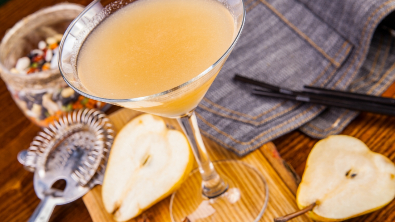 Mocktail pétillant poire gingembre