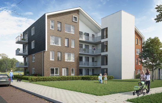 Nieuwbouwproject DUETTE 16 appartementen Boswinkel te Enschede