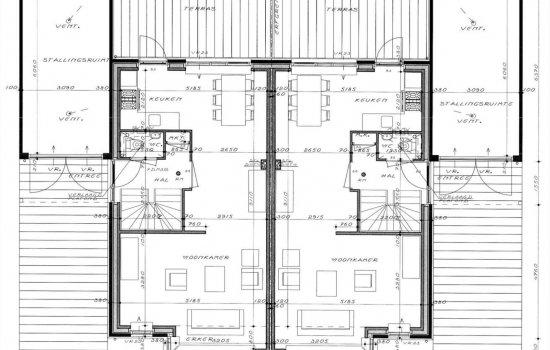 Nieuwbouwproject 6 luxe woningen Kruidenlaan Vroomshoop te Vroomshoop