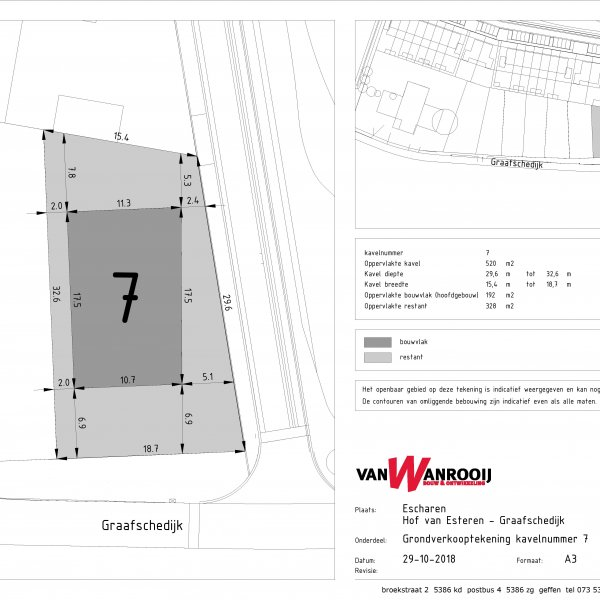 Nieuwbouwproject Graafschedijk/Hof van Esteren te Escharen in Escharen