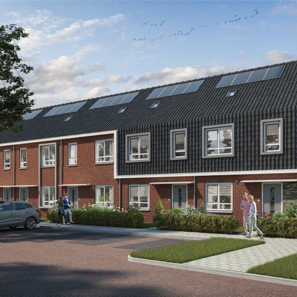 Nieuwbouwproject Wonen in de Cirkel   6 rijwoningen in Hardenberg