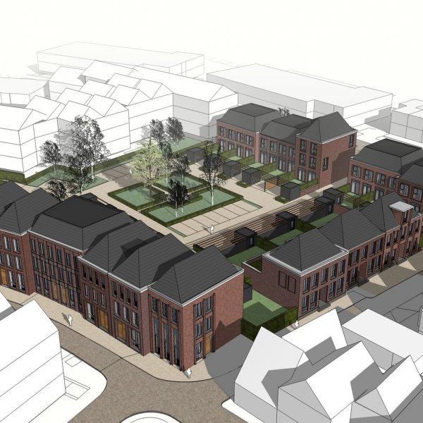 Nieuwbouwproject Cortile 23 Royale, statige herenhuizen in het centrum van Oldenzaal te Oldenzaal