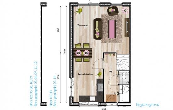 Nieuwbouwproject De Kleine Hortus fase 3 te Groningen