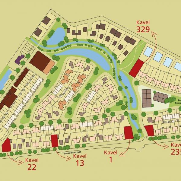 Nieuwbouwproject De Bleekerij, 2 woonkavels en 7 woon-/werkkavels te Enschede