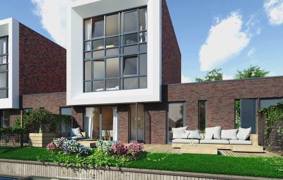 Nieuwbouwproject 't Rietcarré fase 2 te Reitdiep, Groningen