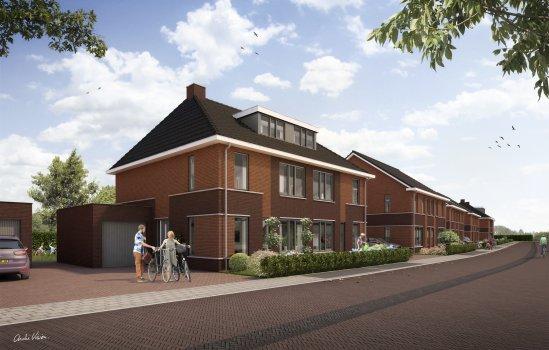 Nieuwbouwproject De Bleekerij, tweekappers Veldbeek I en II te Enschede