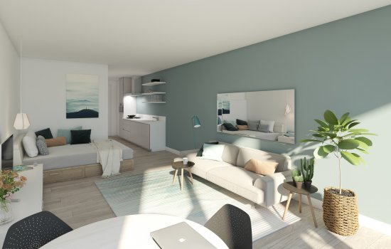 Woningtype Studio type Q in het project Harvest te Den Haag
