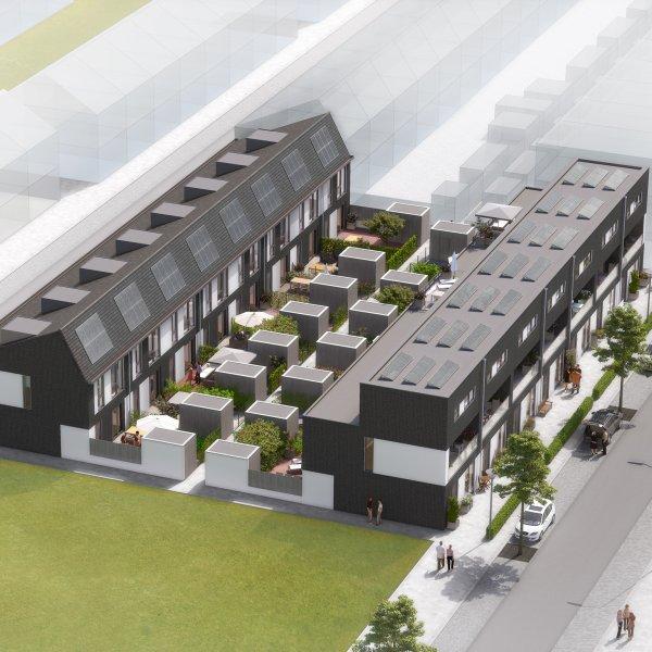 Nieuwbouwproject Stadswerf (Pelikaan- en Paradijsvogelstraat) Groningen in Groningen