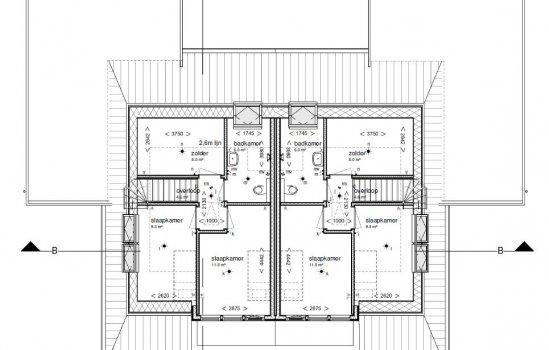 Woningtype Stolp | twee onder een kap in het project Ter Laan IV | 7 Gelijkvloers+ woningen te Bedum