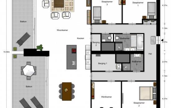 Woningtype Penthouses in het project Eindhoven - Meerzichtappartementen te Eindhoven