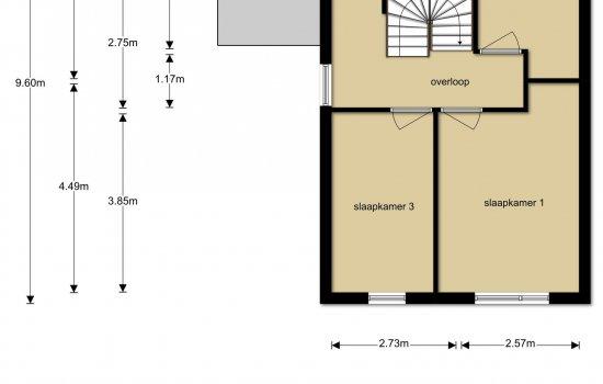 Woningtype Twee-onder-één-kapwoning Type Lavendel in het project Wonen in de Cirkel te Hardenberg