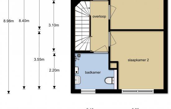 Woningtype Rijwoningen type Kervel in het project Wonen in de Cirkel te Hardenberg
