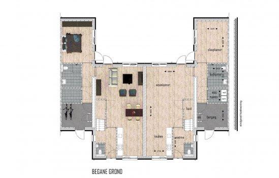 Woningtype Woolderpark twee-onder-een-kap bungalow in het project Woolderpark te Hengelo