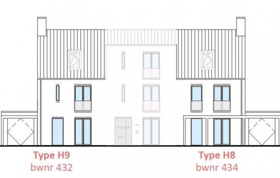 Woningtype Hoekwoningen | Woningtype H in het project Rijnvliet Midden fase 4 A te Utrecht