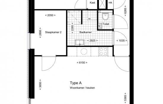 woningtype 3 kamer appartementen in het project camposdreef te utrecht