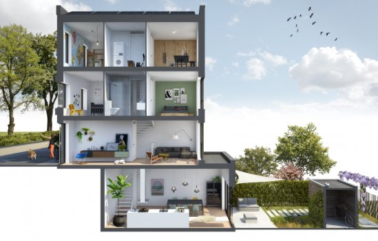 Woningtype Armstrong in het project HomeTown te Utrecht