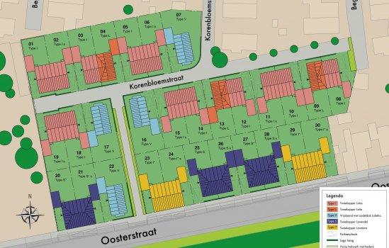 Woningtype Lelie in het project De Laares - Ooster Es te Enschede