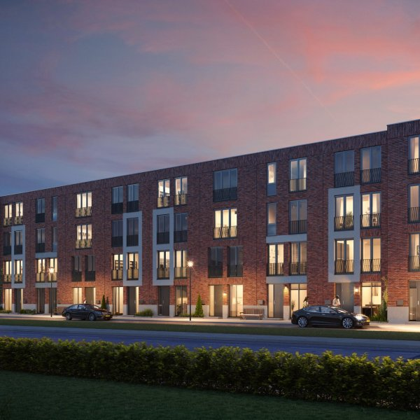 Woningtype Stadsvilla tussen in het project Signatuur fase 1 te Groningen