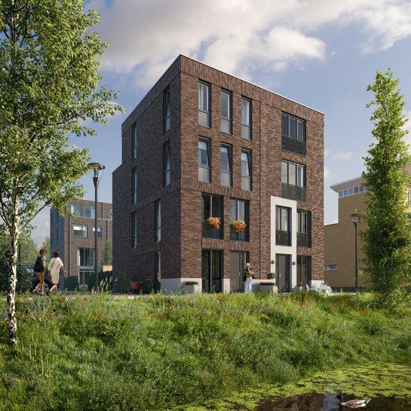 Woningtype Stadsvilla twee-onder-een-kap in het project Signatuur te Groningen