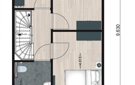 Woningtype Type 1 in het project Havenkwartier te Blauwestad