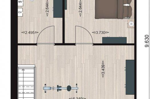 Woningtype Type 4 in het project Havenkwartier te Blauwestad