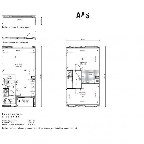 Lunettenhof - 2 laagse woning - tussen, bouwnummer 9