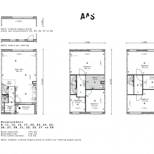 Lunettenhof - 3 laagse woning - tussen, bouwnummer 8