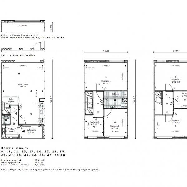 Lunettenhof - 3 laagse woning - tussen, bouwnummer 20