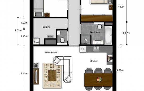3-kamer appartementen, bouwnummer 404