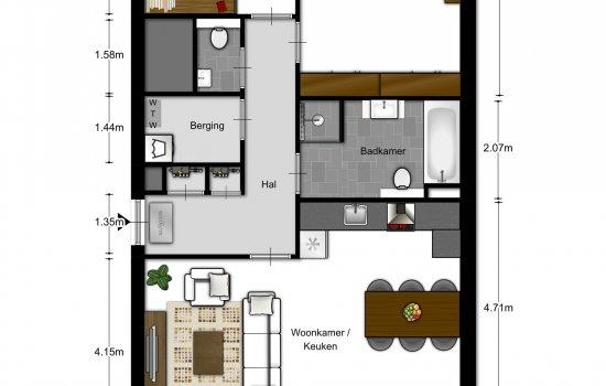 3-kamer appartementen, bouwnummer 103