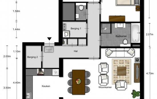 3-kamer appartementen, bouwnummer 203