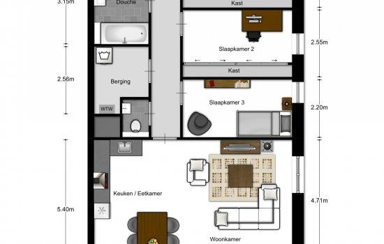 4-kamer appartementen, bouwnummer 706