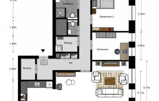 4-kamer appartementen, bouwnummer 1203