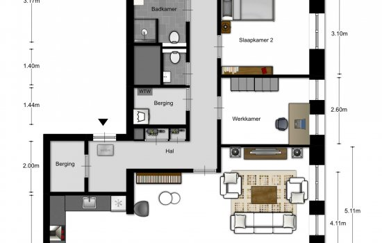 4-kamer appartementen, bouwnummer 1503