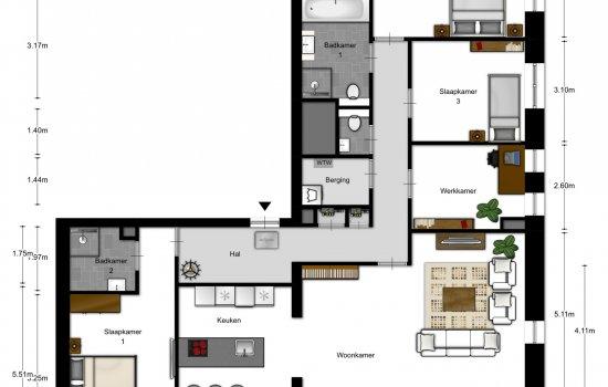 5-kamer appartementen, bouwnummer 2102