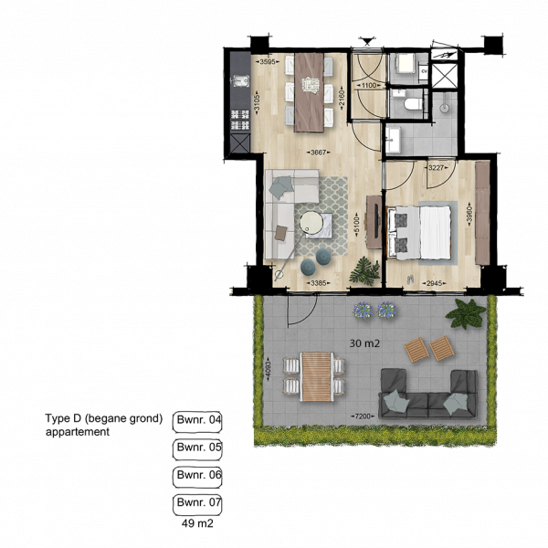 Appartement, bouwnummer 7