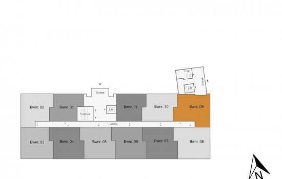 Appartement, bouwnummer 9