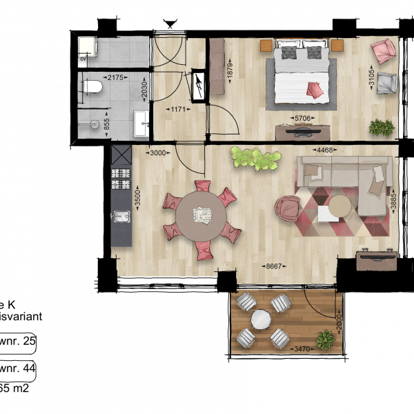 Appartement, bouwnummer 44