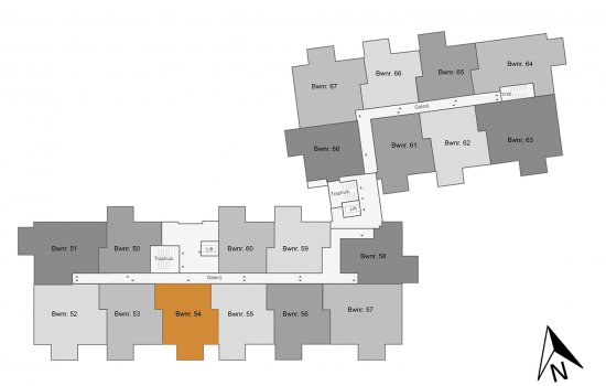 Appartement, bouwnummer 54