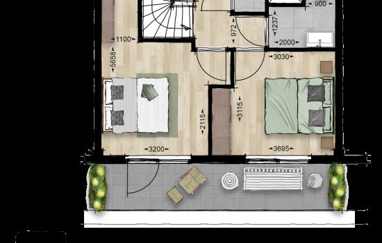 Maisonette, bouwnummer 62