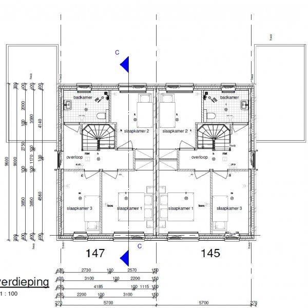 Twee-onder-één-kapwoning Type Lavendel, bouwnummer 145