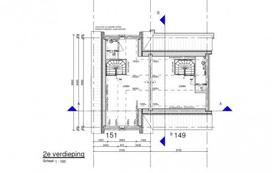 Twee-onder-één-kapwoning Type Lavendel, bouwnummer 149