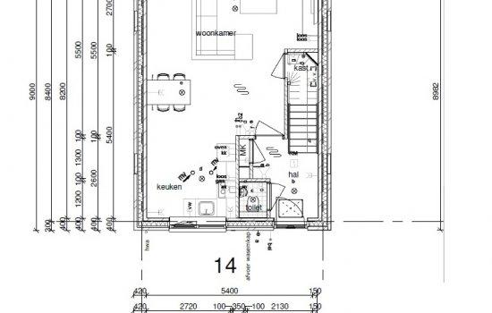 Rijwoningen type Kervel, bouwnummer 14