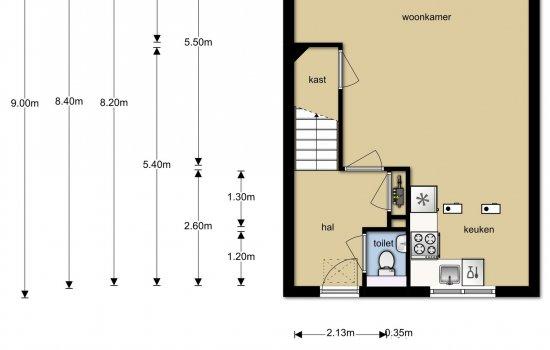 Rijwoningen type Kervel, bouwnummer 16