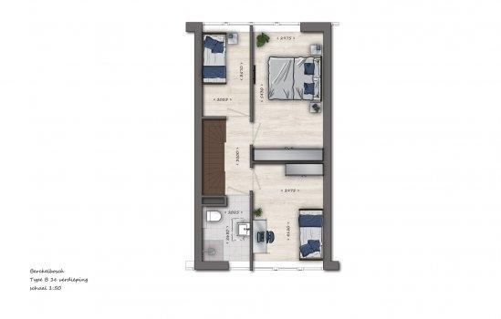Tussenwoningen type B1 | Berckelbosch, bouwnummer 640