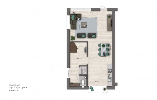 Hoekwoningen type C2   Berckelbosch, bouwnummer 654