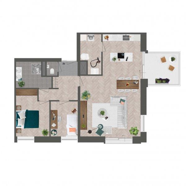 Appartement De Slotwachter, bouwnummer 2