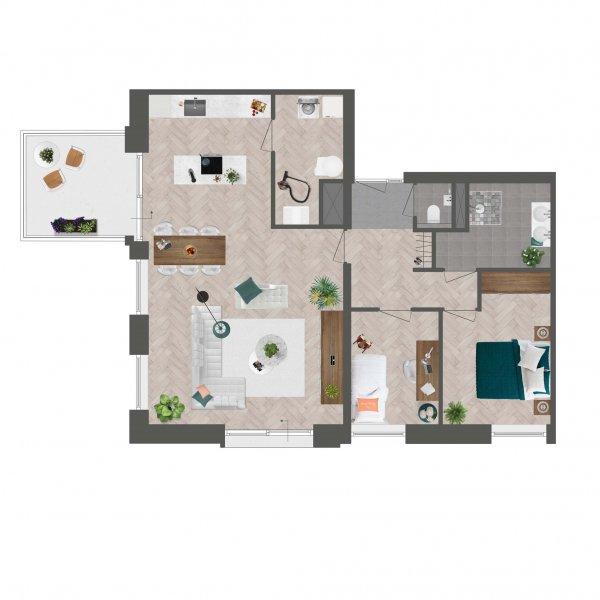 Appartement De Slotwachter, bouwnummer 3